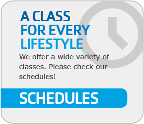A Class for Every Lifestyle Schedules graphic
