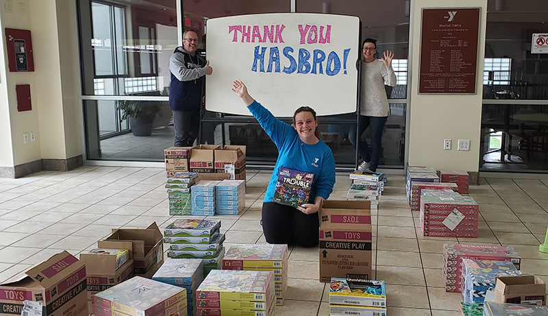 Hasbro Donates Toys And Games To The Y For Families In Need