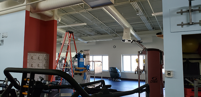 Fitness Center Spruce Up By Jeff And Isaiah