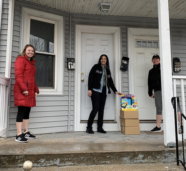 Y Staff Delivers Food And Toys